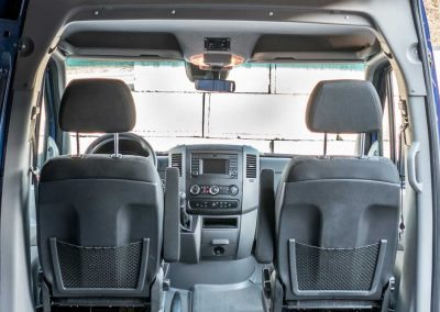 Interior - 2016 Mercedes-Benz Sprinter Super High Roof, 170-inch extended wheelbase, Webasto Air Top 2000 ST Fuel-operated Heater, Auxiliary HVAC