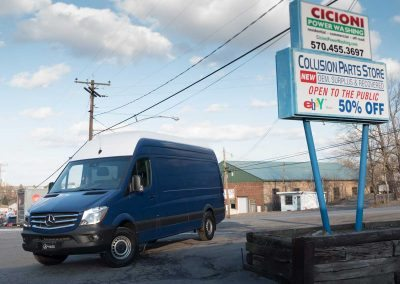 Exterior - 2016 Mercedes-Benz Sprinter Super High Roof, 170-inch extended wheelbase, Webasto Air Top 2000 ST Fuel-operated Heater, Auxiliary HVAC