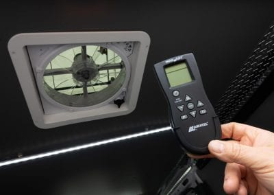 Ventilation system remote control.
