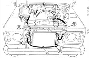 621BL18800EB – Engine Compartment Kit Land Rover Defender 2.5 TD5 LHD