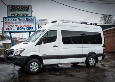 Side view - 2015 Mercedes-Benz Sprinter 2500 Van 144WB with Mobile Climate Control (MCC) Rooftop Heater/Air Conditioner
