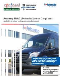 Mercedes-Benz Sprinter rear cargo HVAC for heating cooling