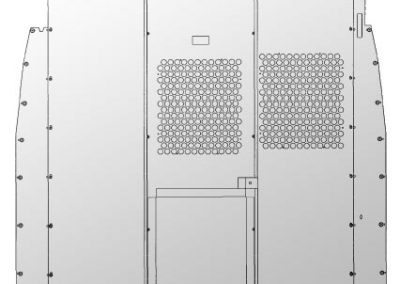 Sprinter partition with see-through perforations.