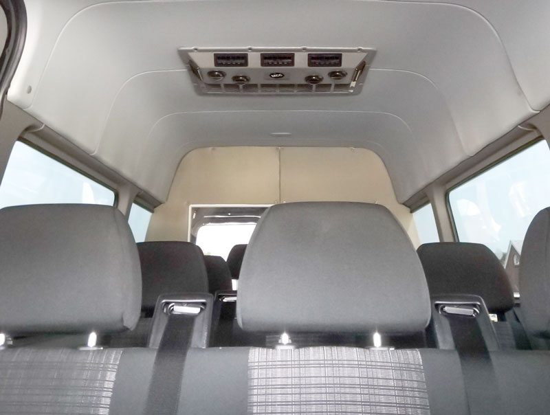 Interior of Sprinter with EcoFlex unit installed.