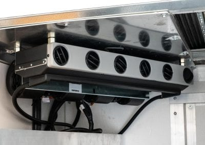 45,500 BTU/h ceiling mount air conditioning with under body condenser