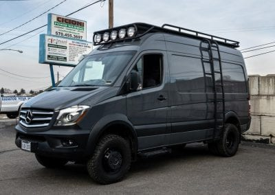 Exterior view of 2018 MB 3500XD Cargo Van, 144 WB, High Roof 4X4.