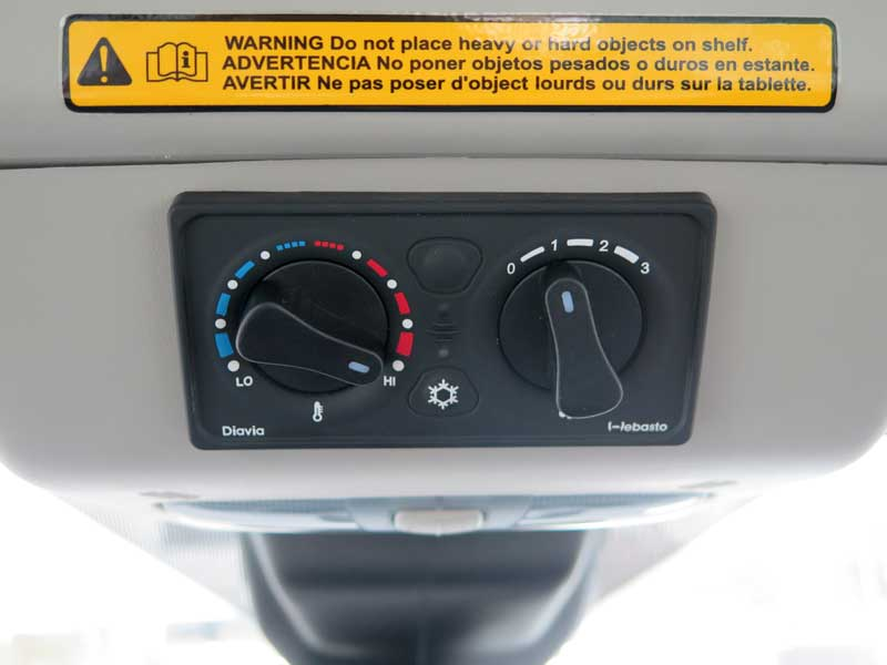 Controls for the Webasto Ford Transit HVAC system