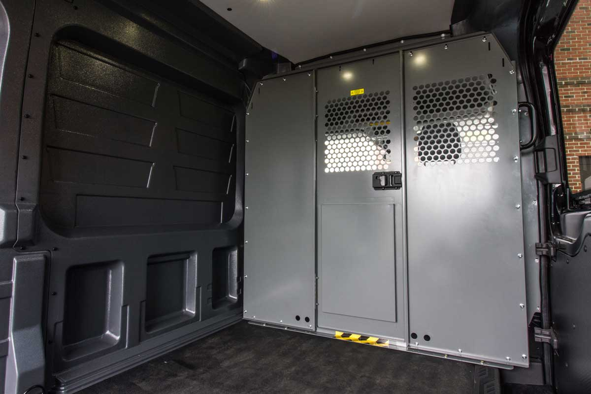 Ford transit rear cargo HVAC solutions by Cicioni