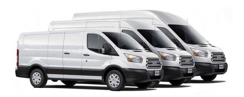 Ford Transit Rear Cargo HVAC & Upfitting Cicioni Commercial Vehicle HVAC
