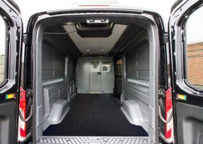 Ford Transit wall liner with roof liner (headliner) protects your vehicle's interior.