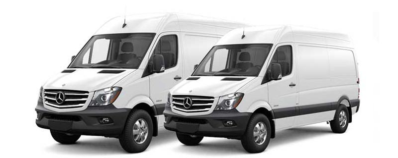 Mercedez-Benz Sprinter Rear Cargo HVAC & Upfitting Cicioni Commercial Vehicle HVAC