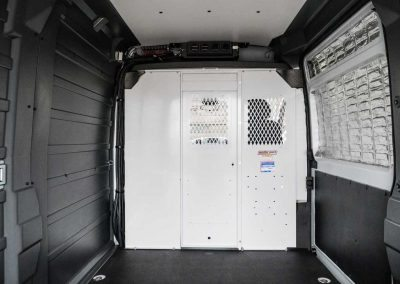 Full van liner and partition installed over insulation - 2017 RAM 3500 ProMaster Cargo 159 in. WB, High Roof, 3.6L V6