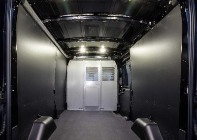 Interior insulation package - 2016 Ford Transit Cargo Van 148 in. WB, Medium Roof, 3.5L - Rooftop condenser, wall liner, independent high capacity rear headliner, partition and wing kit installation