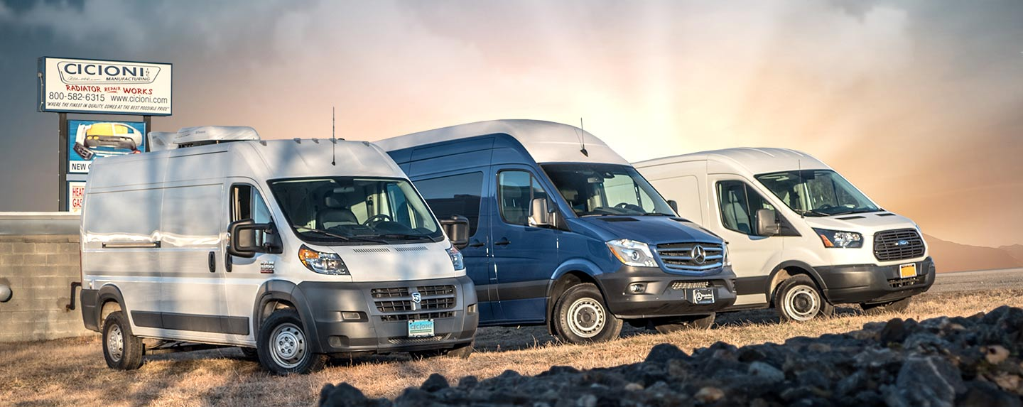 Sprinter, Transit, and ProMaster rear cargo HVAC for pets and animals