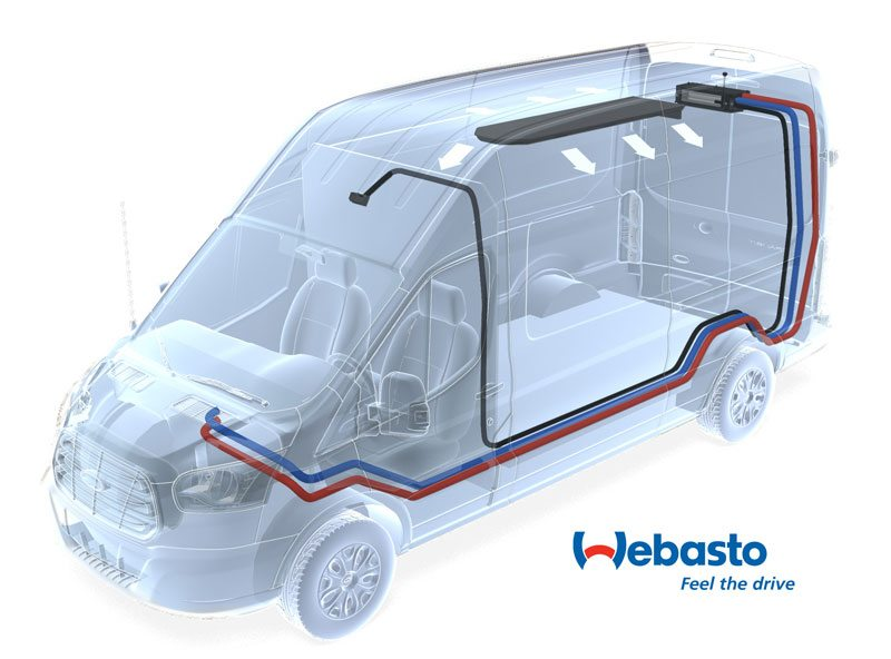 Ford Transit Standard Tie-In HVAC – Webasto model London evaporator